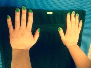 groene handen